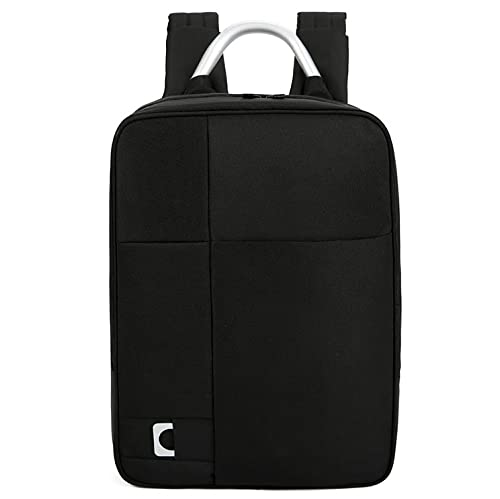 JGL Zaino da uomo semplice da viaggio e per il tempo libero Zaino da lavoro antifurto per laptop da 15,6 pollici impermeabile-black||16 inch