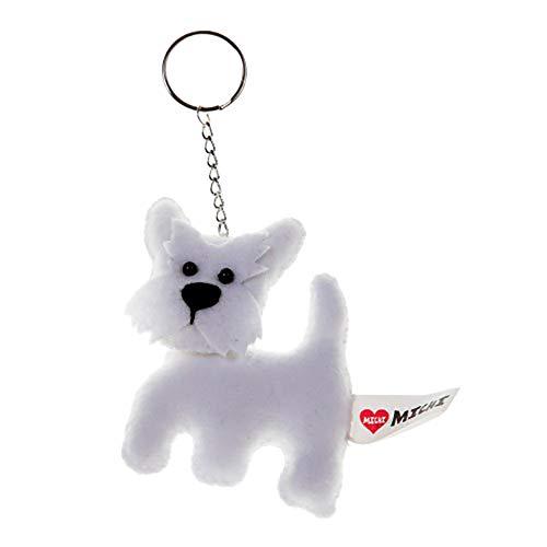 Michi Schlüsselanhänger mit Hunde-Design (Einheitsgröße) (Westie)