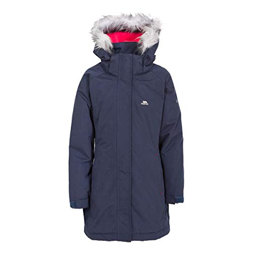 Trespass Fame, Navy, 9/10, Warm Padded Waterproof Winter Jacket with...