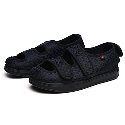 WSZMD Diabetes Plus Ancho Zapatos De Magma Zapatos Hinchados Pie Suelto Pulgar Ajustable Afuera Zapatos Diabéticos Zapatos Antideslizantes,Blue-41
