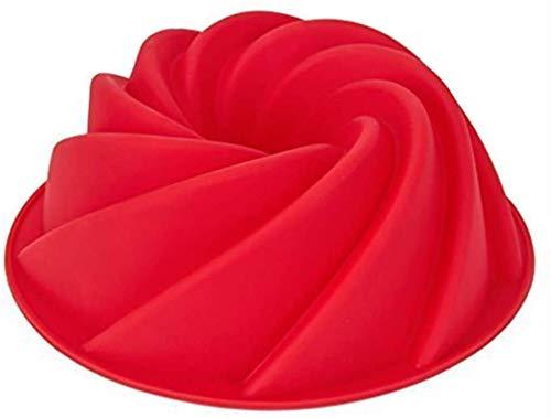 Silikon Backform,Spirale Form Kuchenbackform Spiralkuchenform Silikonbackform Kuchenbackform Antihaft Gugelhupf Kuchenform Brotbackform für Kuchen für Jello-Gelatin 9 Zoll