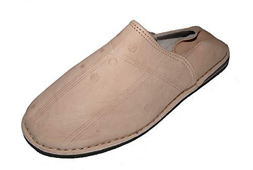 Marrakech Accessoires Orientalische Leder Schuhe Pantoffeln Hausschuh Slipper - Herren/Damen/Unisex - 905586-0004, Schuhgrösse:44
