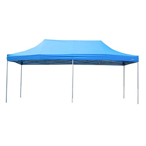 Outdoor Basic 10x20 Ft Pop Up Canopy Wedding Party Tent Patio Gazebo Shelter Blue