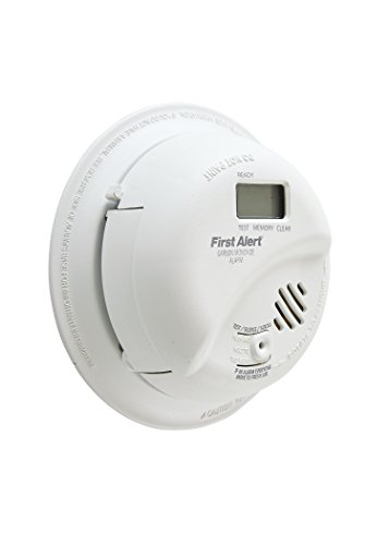 First Alert BRK CO5120PDBN Hardwired Carbon Monoxide (CO) Detector with Digital Display and Battery Backup