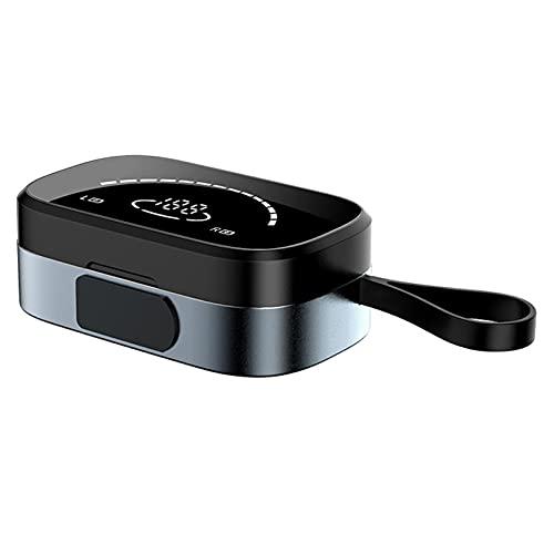 ZJ 5.0 Mini Auriculares Bluetooth en la Oreja TWS Espejo de Alta definición Pantalla Digital Auriculares inalámbricos Mini Auriculares Deportivos con cancelación de Ruido(Color:A)