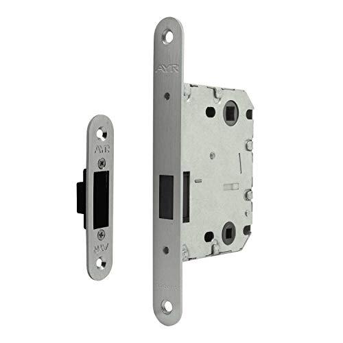 Jdel Picaporte unificado 819 para Puerta de Paso con Sistema magnético, Niquel, 70mm