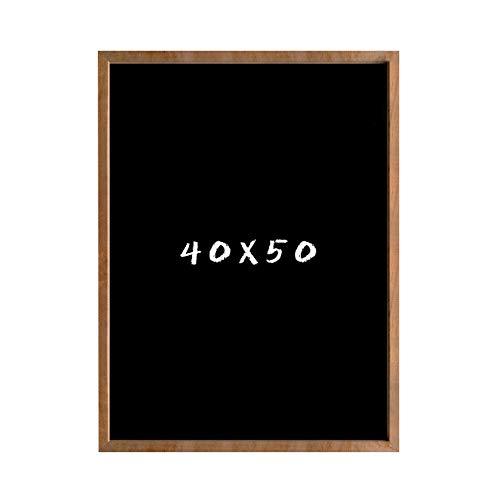 postergaleria Kreidetafel für Wand | 40x50cm | Braun | Wandtafel aus Kiefernholz (HDF) in Schwarz | mit Kreide und Einer Schnur zum Aufhängen | für Küchen, Cafés, Geschäfte | Viele Farben | 6 Größen