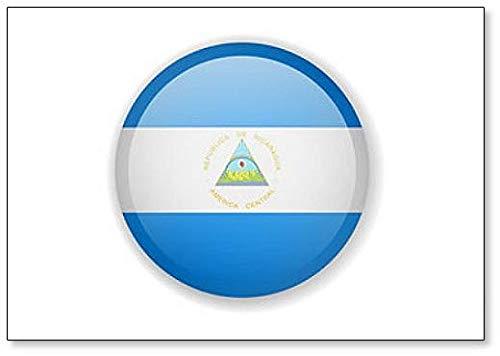 Kühlschrankmagnet, Motiv: Nicaragua-Flagge, r&