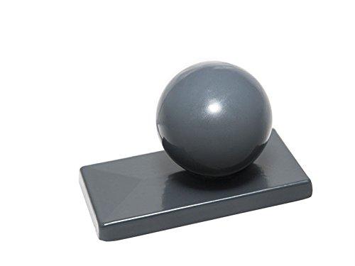 Aluminium Poteau avec boule 7016 Anthracite I avec tige saillie pour 60 x 40 poteaux I Double Tapis de clôture I Grille de clôture I capot I pfostenabdeckung