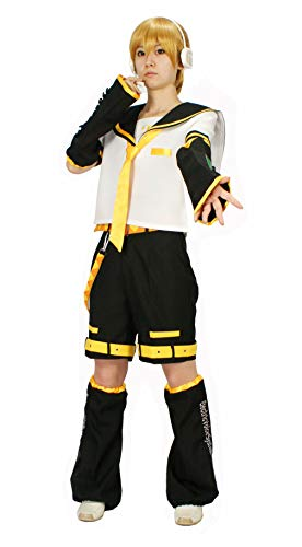 MILICA BOOKS Vocaloid Kagamine Rin/Kagamine Len Cosplay Costume (Large) White