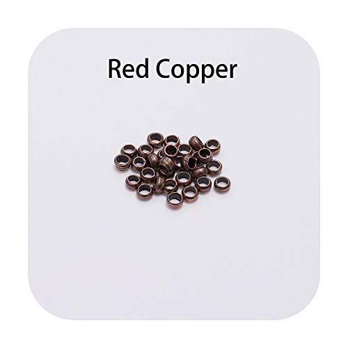 F-pump Lote de 500 bolas de bronce antiguo de 2/2,5/3 mm, oro antiguo, para joyería, cobre, 3,5 mm