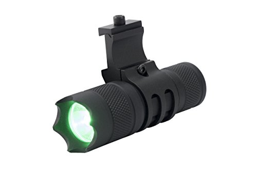Monstrum 150 Lumens Green Light LED Flashlight with Remote Pressure Switch and Picatinny Rail Mount