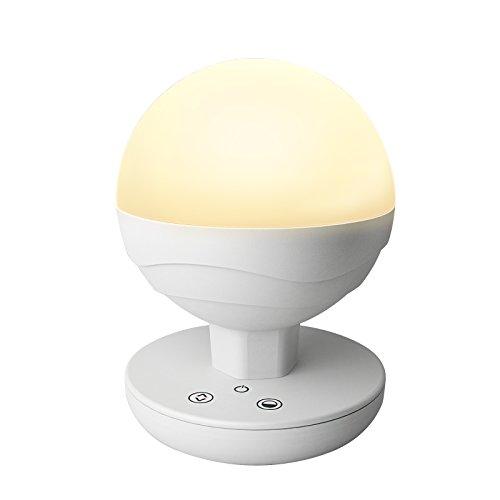 XPHOTs dimmbare LED-Nachttischlampe, Touch-Nachtlicht/LED-Nachtlicht für Kinder, Camping-Laterne für Zuhause, drinnen und draußen (warmweißes und weißes Licht einstellbar, integrierter Akku)