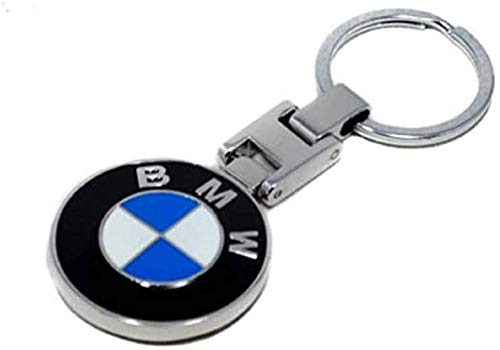 BOGOO 3D Metal Chrome KEYRING for 1 2 3 4 5 6 7 8 X Series Cars Keychain Car Logo BM