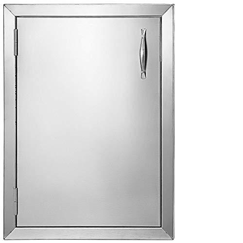 VEVOR BBQ Türen 41x57cm Schranktüren Kamintür vertikal mit 1 Inspektionstür Putztür Edelstahl für Außenküche Badezimmer