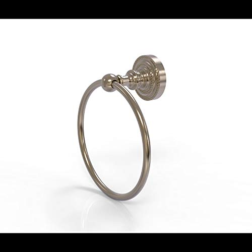 Allied Brass DT-16 Dottingham Collection Towel Ring, Antique Pewter