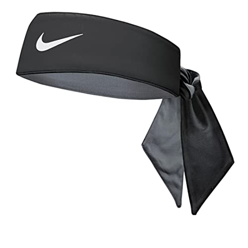 Nike Reversible Cooling Head Tie with Dri-Fit - Unisex (BLACK/GREY)