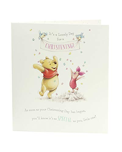 Product Image 2: Congratulations Christening Card – Christening Day Card, Winnie the Pooh and Piglet – Ideal Gift Card for Christening – Disney