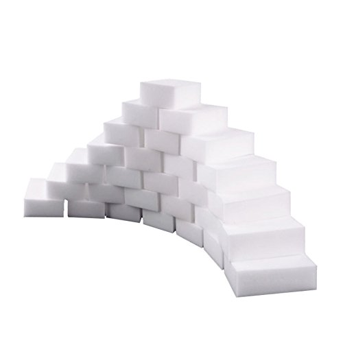 UniM Magic Cleaning Eraser Extra Thick Cleaning Sponges - Multi-Surface Cleaner For Bathroom, Kitchen, Floor, Baseboard, Wall, etc. Melamine Foam Sponge (50-Pack)