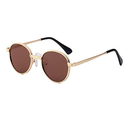 AMFG Pequeñas Gafas De Sol De Marco Redondo Mujeres Y Hombres Retro Gafas De Sol, Al Aire Libre, Fotografía Callejera, Fotografía De Gafas Decorativas (Color : E, Size : M)