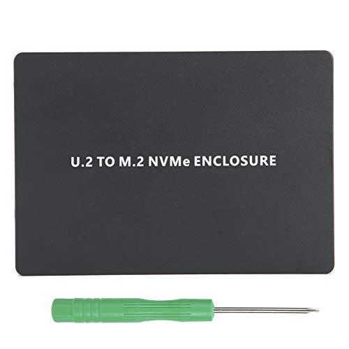 Festplattengehäuse, U.2 Solid-State-Festplattenbox-Adapterkarte PCIE3.0 NVME zu U.2-Adapterkarte SFF 8639 Aluminiumlegierung U2 SSD-Gehäuse(schwarz)