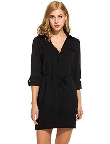 Damska bluzka w groszki elegancka vintage szyfonowa sukienka wygodne rozmiary moda ładna linia brelok odzież codzienna sukienka z klapą kołnierz koszula z krótkim rękawem sukienka