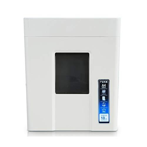 Best Bargain TUCY Desktop 10L Small Paper Shredder Household Portable Document Shredder Electric Pap...
