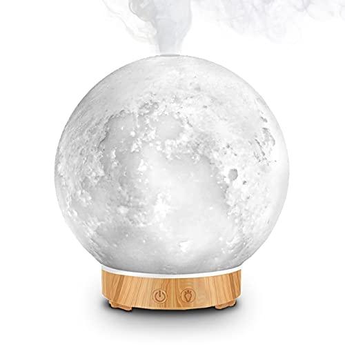 MEIDI Aroma Öl Diffuser 200ml,Mond Licht Aroma Diffuser für Ätherische Öle,7 Farben LED Duftlampe BPA-Free für Kinder Luftbefeuchter Babyzimmer Schlafzimmer Spa