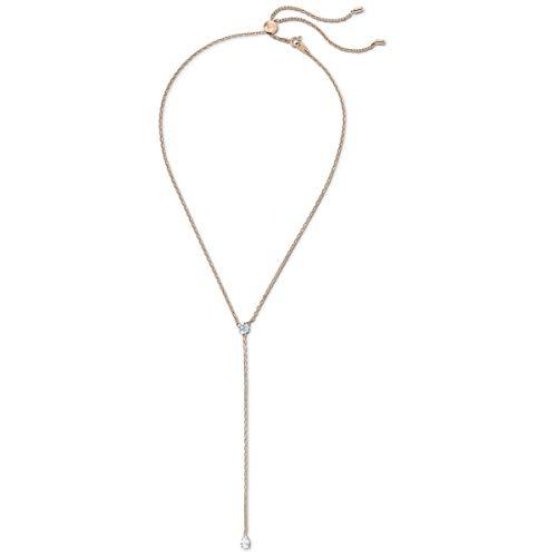 Swarovski Collana a Y Attract Soul, bianco, placcato color oro rosa