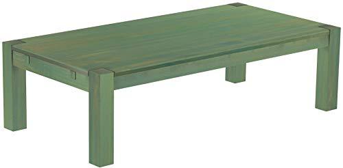 Brasilmöbel, Rio Kanto, salontafel, 160 x 80 cm, bamboe, mintgroen, woonkamertafel, houten tafel, massief houten salontafel, bijzettafel, echt hout, afmetingen en kleur naar keuze