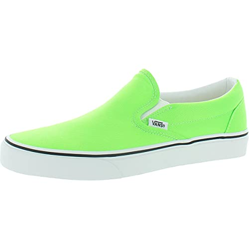 Vans Mens Classic Slip On Canvas Skateboarding Shoes Green 7 Medium (D)