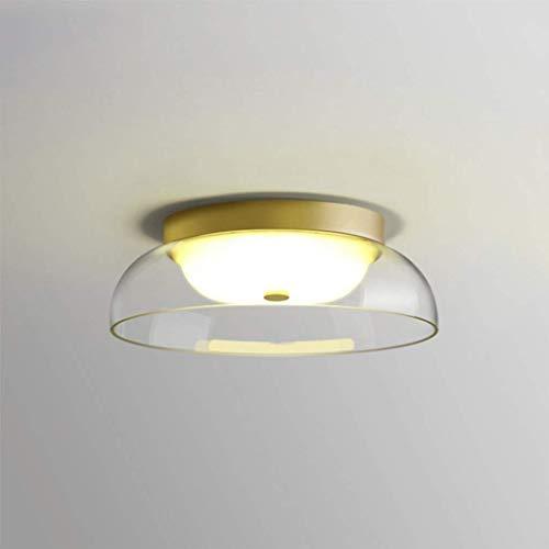 LED de luz de techo de aluminio, cristal moderno de la lámpara...