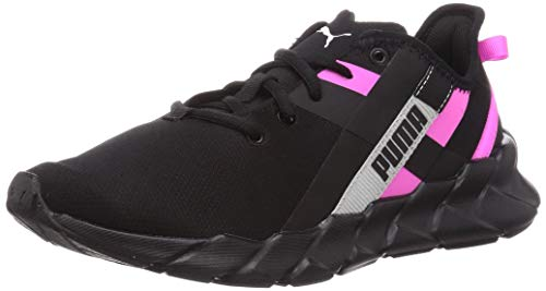 PUMA Weave XT Twin WN'S, Zapatillas de Gimnasio Mujer, Negro Black/Luminous Pink Silver, 38 EU