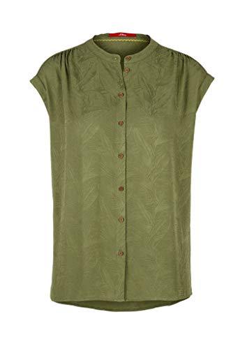 s.Oliver Damen Kurzarm Bluse, 7810 Green, 46