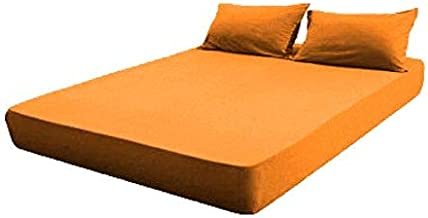 Toson Sleeping Systems Fitted Bed Sheet Cotton - Orange,160×200cm