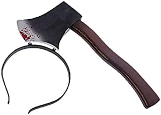 Party Propz Bloody Axe Headband Costume Accessory