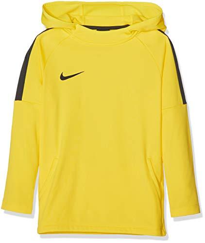 NIKE B NK Dry Acdmy18 Hoodie Po Sweatshirt, Niños, Tour Yellow/ Anthracite/ Anthracite/ Black, S