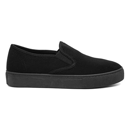 Lilley Womens Black Slip On Casual Pump - Size 6 UK - Bl