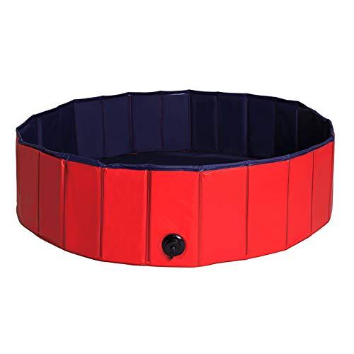 dibea Hundepool aus PVC, Schwimmbecken für Hunde, Hundebad, Wasserbecken für Hunde (Größe wählbar) (M (120cm Ø))