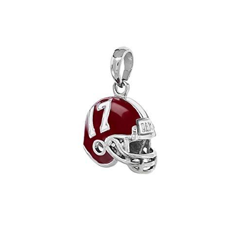 University of Alabama Bead Charm | Stainless Steel Alabama Pendant | Crimson Tide Helmet Charm | University of Alabama Gift | Fits Most Popular Charm Bracelets