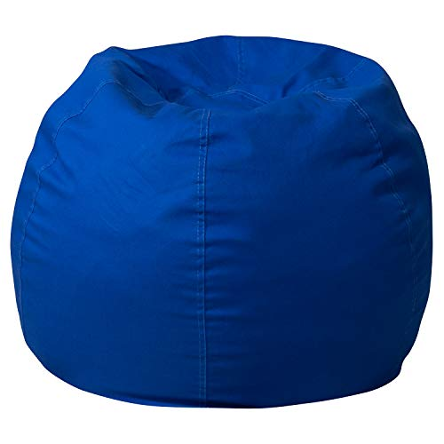 Flash Furniture Small Solid Royal Blue Bean Bag Chair for Kids and Teens