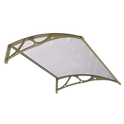 Door Canopy Awning Outdoor Anti-UV Windproof Porch Canopy, Patio Window Garden, Polycarbonate Matte Panel, Customizable-80x120cm