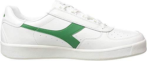 Diadora B.Elite, Zapatillas de Gimnasia Unisex Adulto, Blanco (White/White/White/Jelly Bean C7373), 36 EU