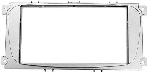 XGFCNB Auto DVD Radio Rahmen passend, für Ford Focus II Stereo Panel Armaturenbrett Doppelmontage Install Kit Kit Refit Frame (Farbe: Grau) -Grau