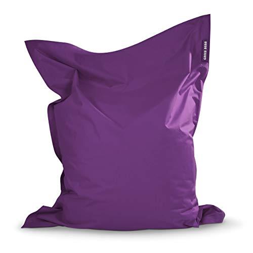 Green Bean © Square XL Riesensitzsack 120x160 cm - 270L - Indoor Outdoor - waschbar, doppelt vernäht - Sitzsack für Kinder und Erwachsene - Bodenkissen, Gaming Beanbag Chair, Sessel - Lila