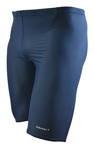 Adoretex Men's Polyester Compression Jammer Swimsuit(MJ002) - Navy - 32