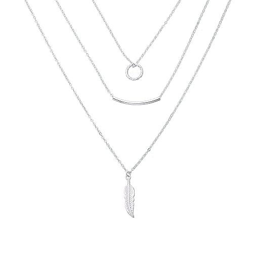 Colgante, codo, hoja, anillo, collar, moda femenina, multicapa, artículo de tendencia, adorno, cadena de suéter