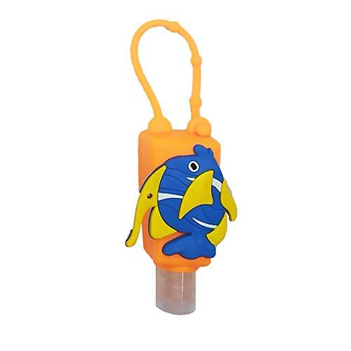 Mini Flaschen   leere Reiseflaschen zum Befüllen   kleine Flaschen aus Silikon   Auslaufsicher   EUROXANTY®   Fisch