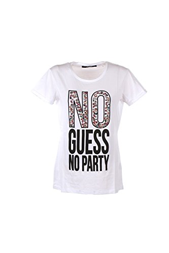 Guess Damen No Party Tee T-Shirt, Bianco (True White), X-Small