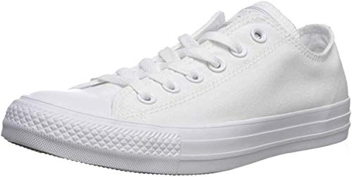 Converse Chuck Taylor All Star Leather Low Top Sneaker, White, 8 M US